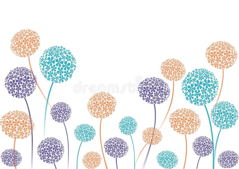 Allium Flower Clip Art