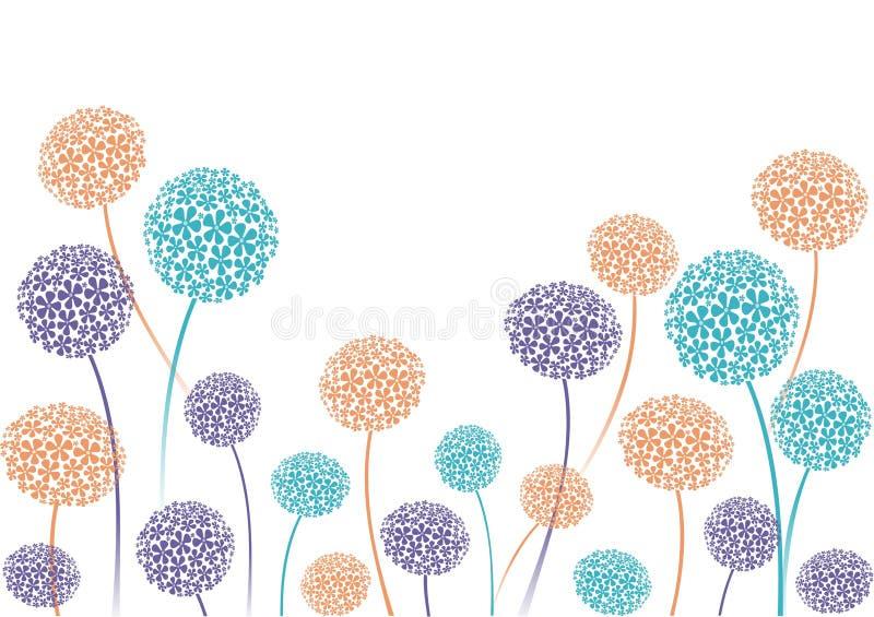 alliumkant royaltyfri illustrationer