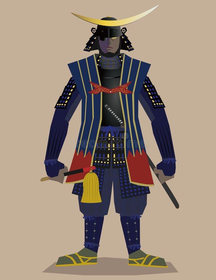 allmän samurai royaltyfri illustrationer