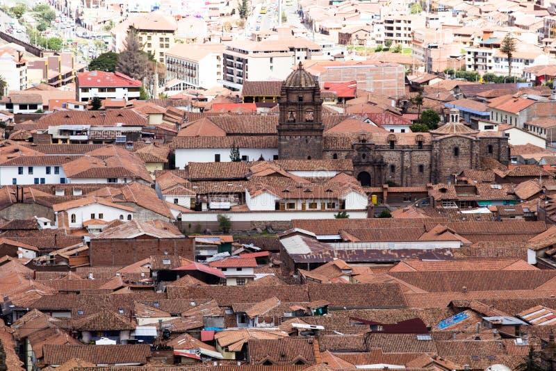 Allmän sikt av staden av Cuzco, Peru royaltyfri foto