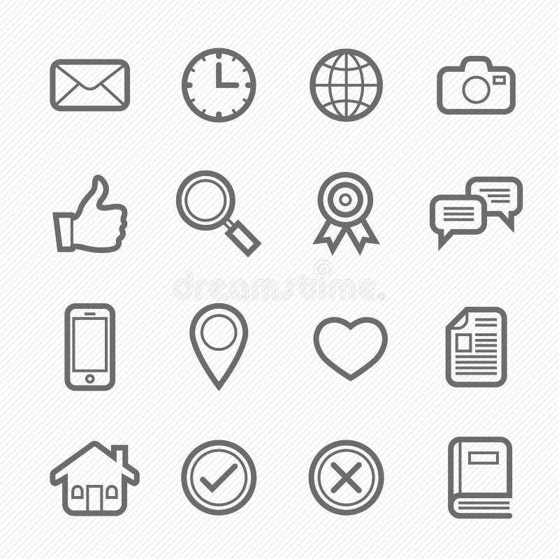 Allmän symbollinje symbol på vit bakgrund vektor illustrationer