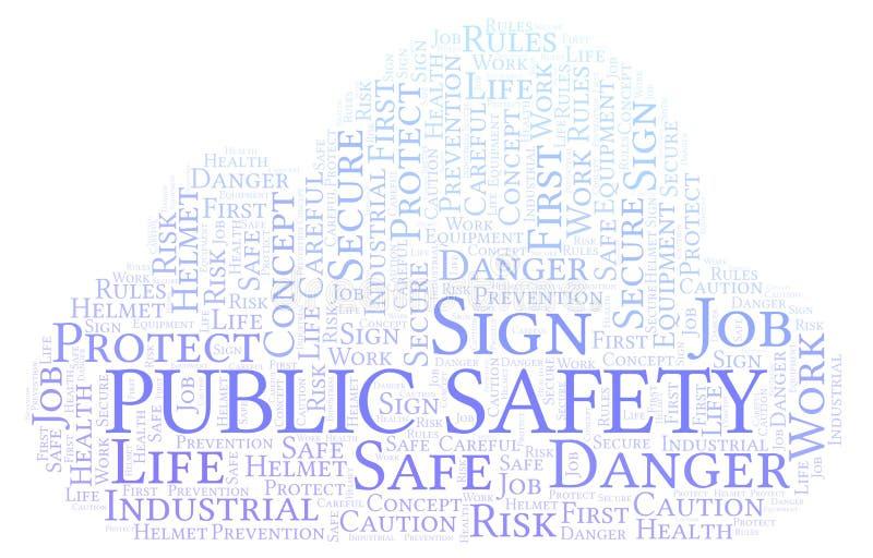 Allmänhetens säkerhetordmoln vektor illustrationer