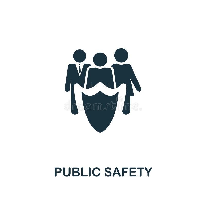 Allmänhetens säkerhetsymbol Högvärdig stildesign från urbanismsymbolssamling UI och UX Perfekt allmänhetens säkerhetsymbol för PI vektor illustrationer