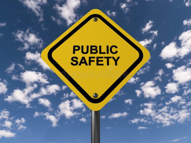 Allmänhetens säkerhettecken stock illustrationer