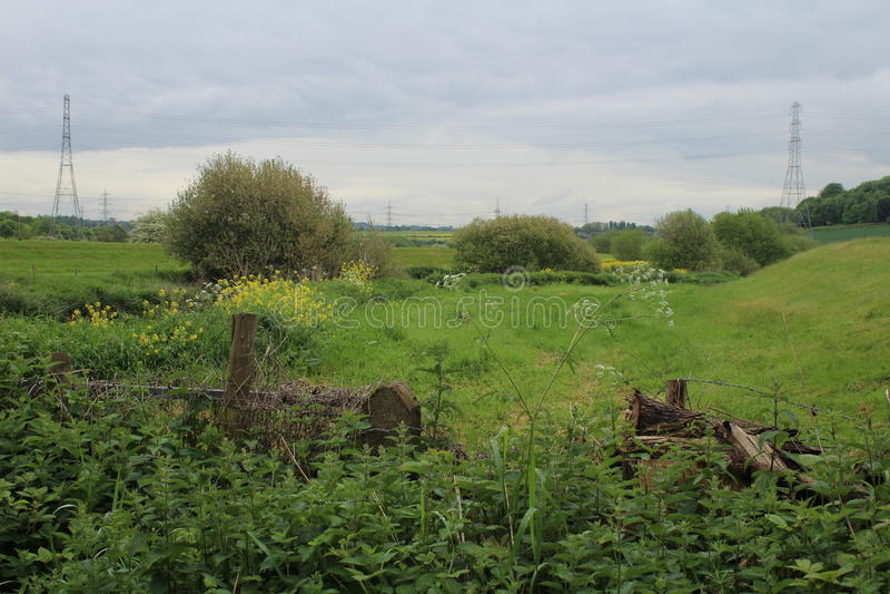 Allmänt landskap Treeton Rotherham arkivfoton
