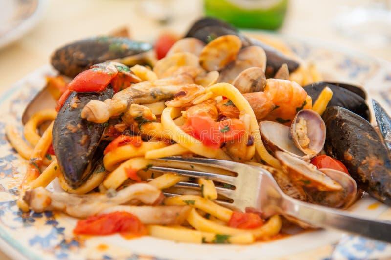 Allo μακαρονιών scoglio - ιταλικά ζυμαρικά θαλασσινών στοκ φωτογραφία με δικαίωμα ελεύθερης χρήσης