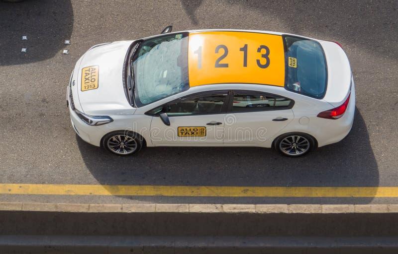 Allo taxi w Bejrut, Liban obrazy stock