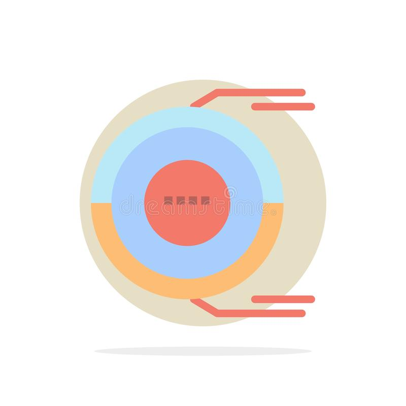 Allocation, Analysis, Diagram, Estimation, Resource Abstract Circle Background Flat color Icon royalty free illustration