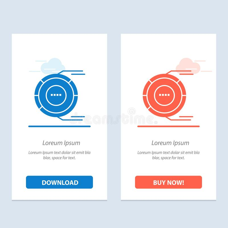 Allocation, Analysis, Diagram, Estimation, Resource  Blue and Red Download and Buy Now web Widget Card Template stock illustration