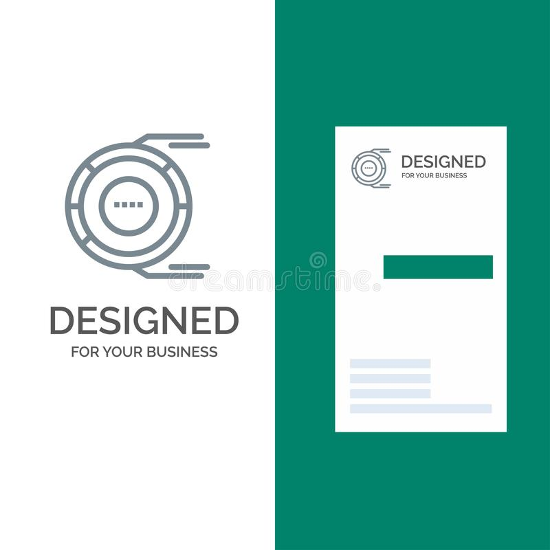 Allocation, Analysis, Diagram, Estimation, Resource Grey Logo Design and Business Card Template royalty free illustration