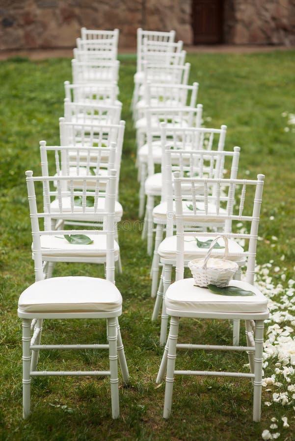 Allocation des places pour épouser des invités photographie stock libre de droits