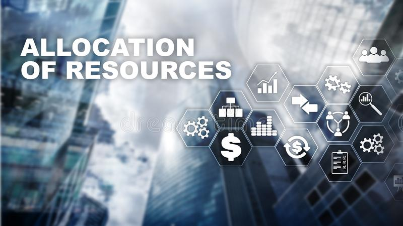 Allocation of resources concept. Strategic planning. Mixed media. Abstract business background. Financial technology and stock photography