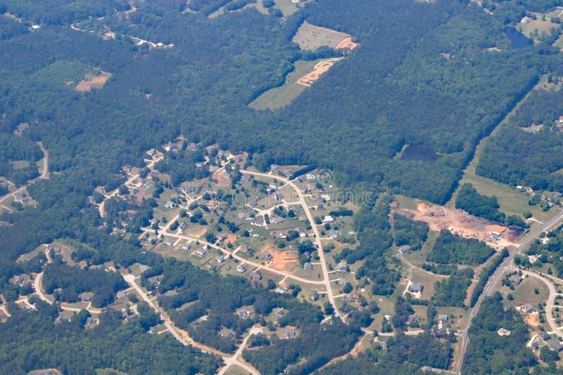 Alloggio del tratto in Georgia vicino ad Atlanta immagine stock libera da diritti