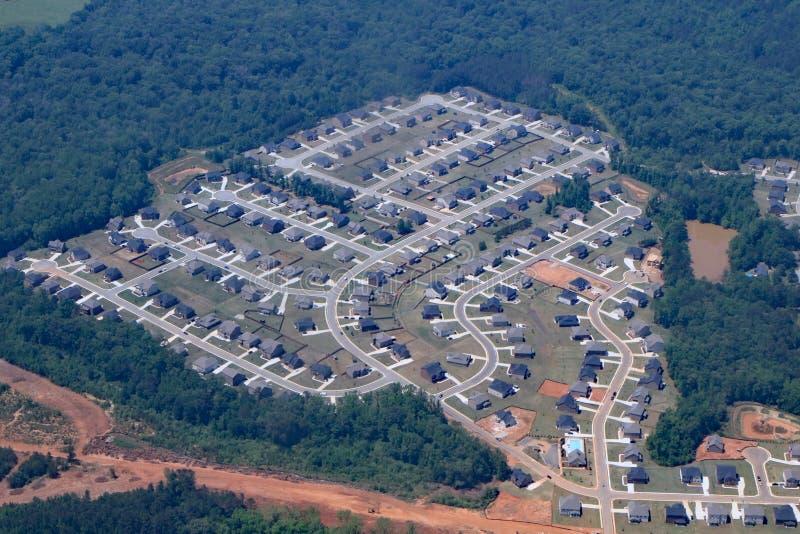 Alloggio del tratto in Georgia vicino ad Atlanta fotografia stock libera da diritti