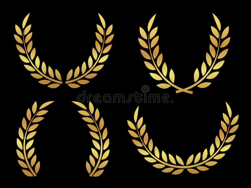 Allori del premio dell'oro royalty illustrazione gratis