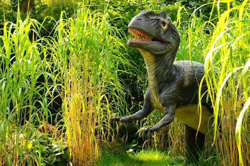 Download Allosaurus stock image. Image of dinosaur, firece, bushes - 26932669