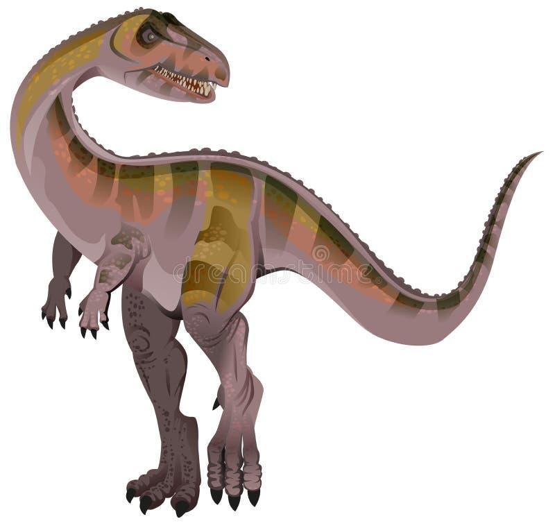 Allosaurus do dinossauro carnívoro ilustração stock