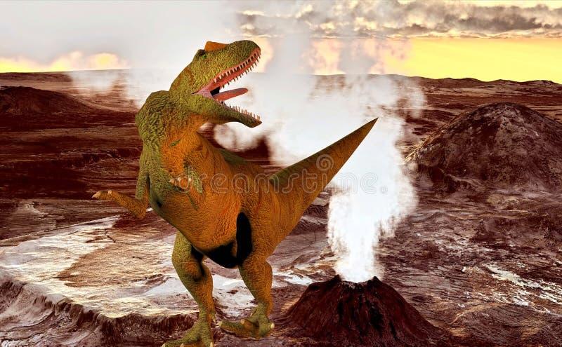 Allosaurus fragilis stock de ilustración