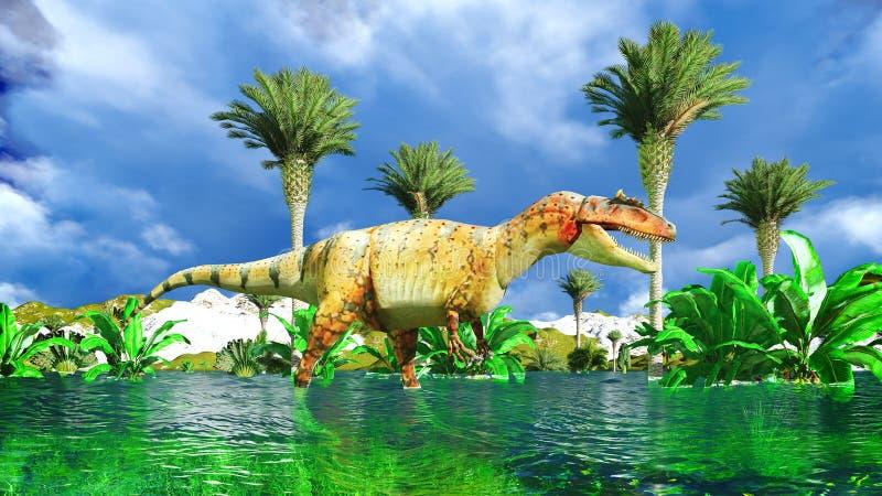 Allosaurus fragilis fotografia de stock royalty free