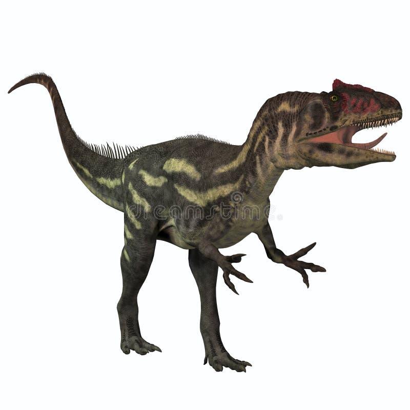 Allosaurus no branco ilustração stock