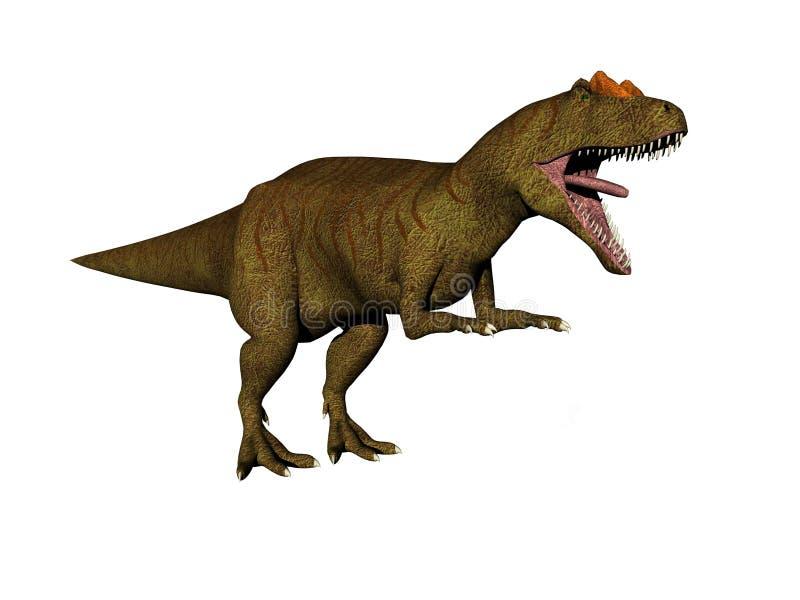 allosaurusdinosaur royaltyfri illustrationer