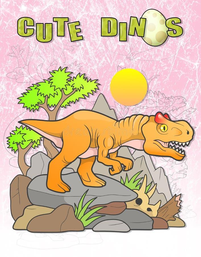 Allosaurussökanden för rov royaltyfri illustrationer