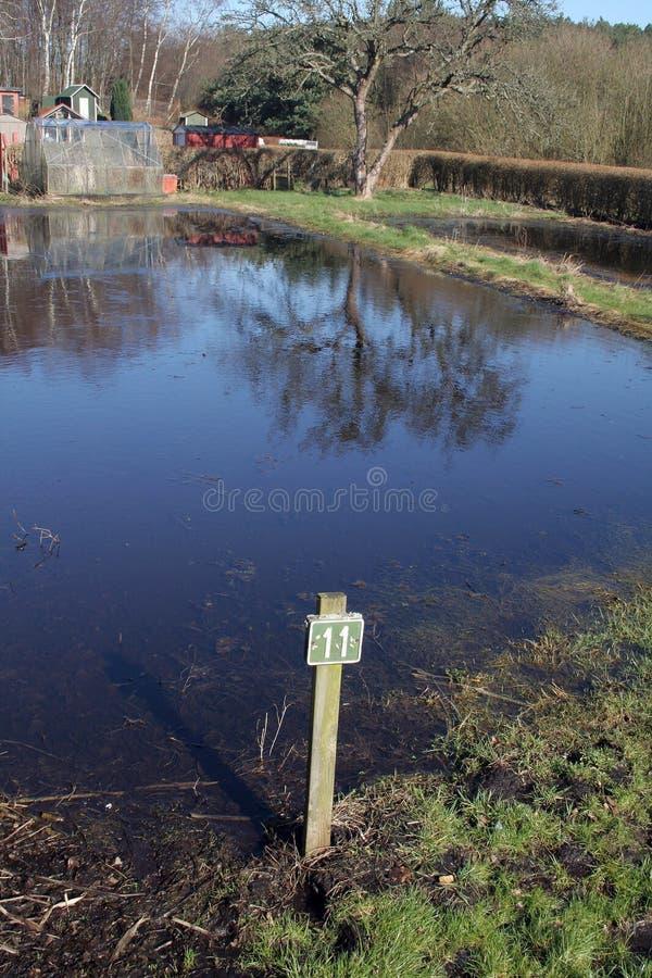 Allotissement d'inondation photo libre de droits