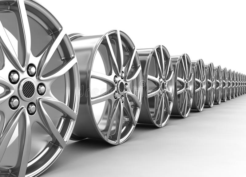 Download Alloy rims - 3d render stock illustration. Illustration of isolated - 16457542