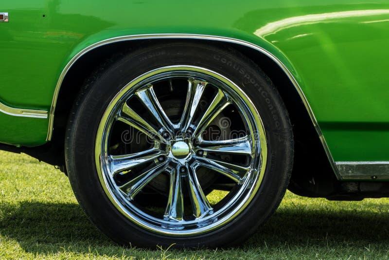 Alloy wheel car tyre stock photography