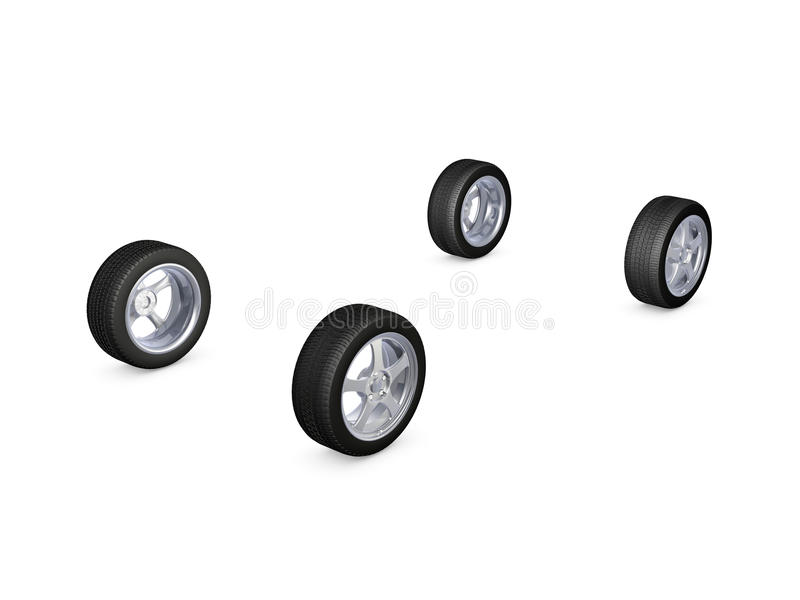 Download Alloy wheel tire stock illustration. Image of wheel, rubber - 24349851