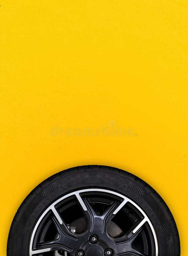 Alloy wheels with white background royalty free stock photo