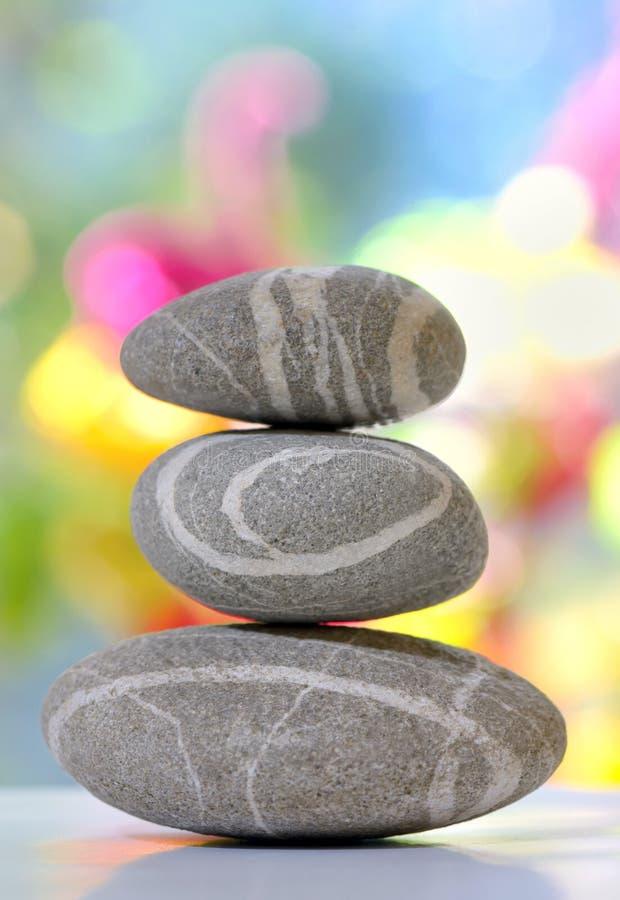 Allsidig bunt av pebbles royaltyfri fotografi