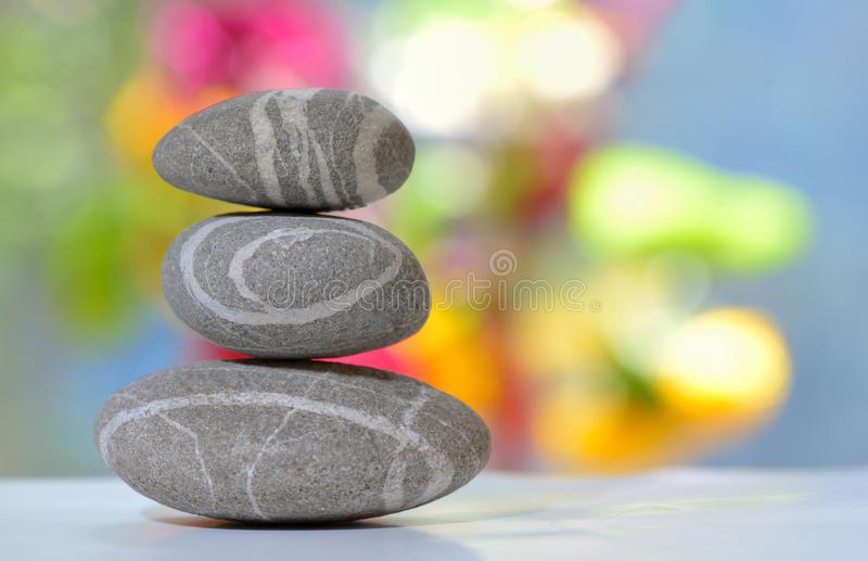 Allsidig bunt av pebbles royaltyfri bild