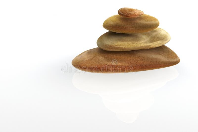 allsidiga stenar 3d vektor illustrationer