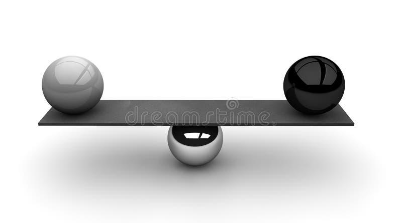 Allsidigt svartvitt stock illustrationer