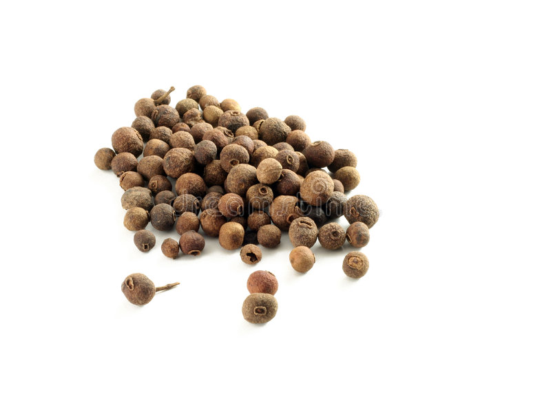 Allspice. Isolated on white, great for backgrounds royalty free stock images