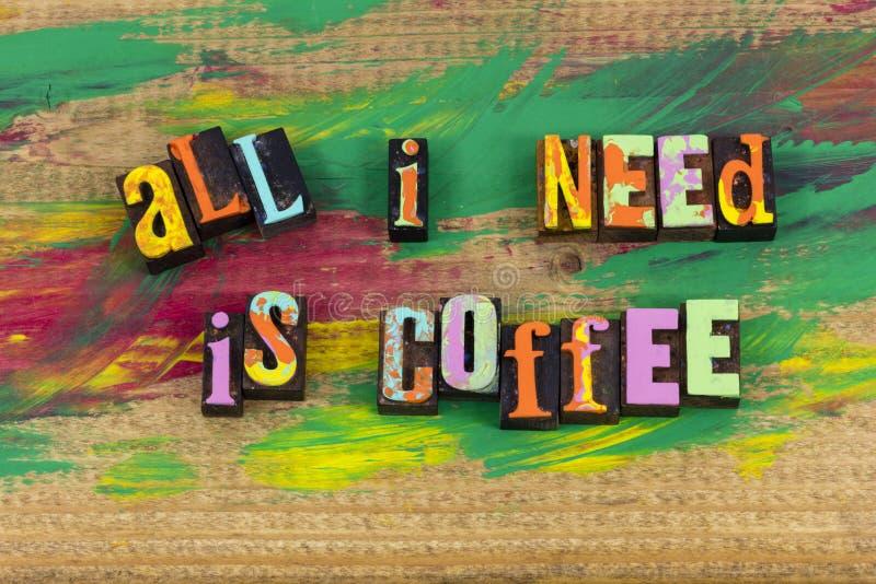 Allt behov är kaffeavbrottet arkivbilder