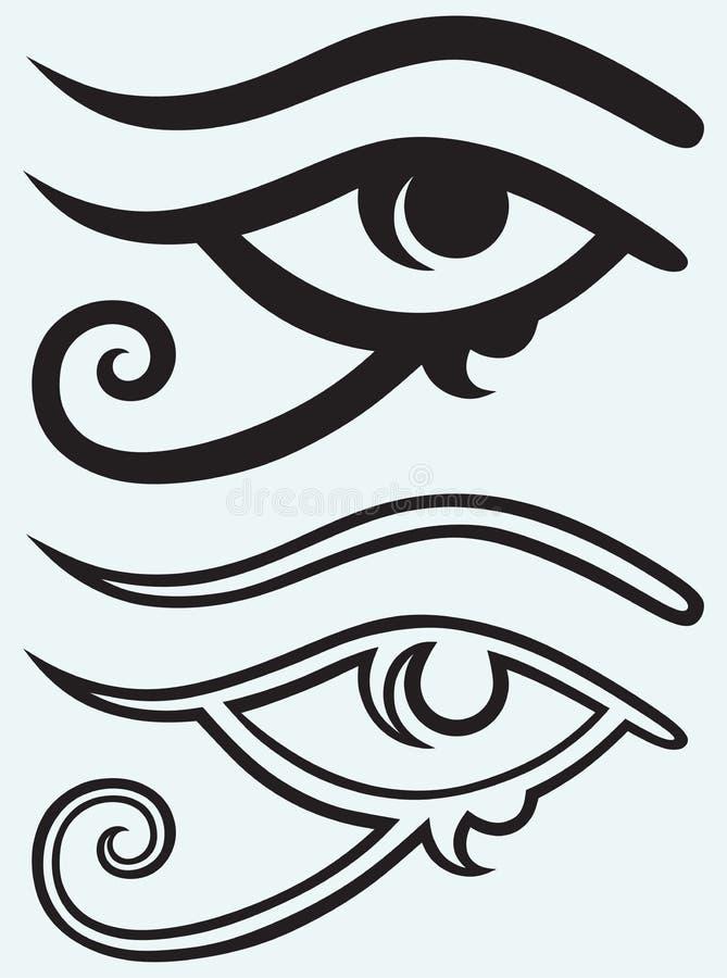 Allt seende öga royaltyfri illustrationer