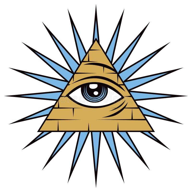 Allt seende öga av försyn royaltyfri illustrationer