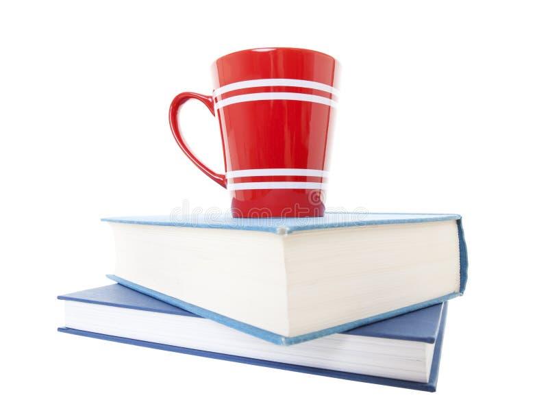 Text bokar, och kaffe rånar arkivbild