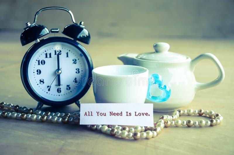 Allt som du behöver, är förälskelsebegreppet arkivbild