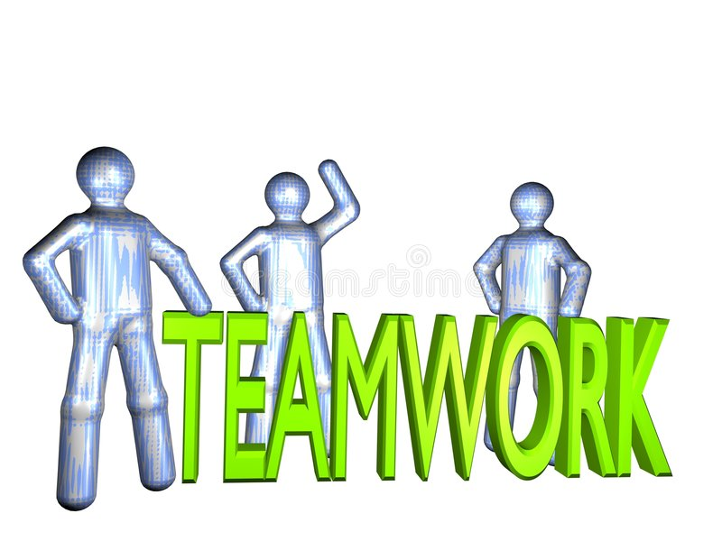 allt teamwork vektor illustrationer