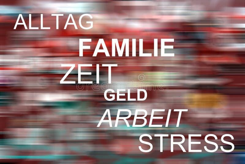 Alltag, Familie, Zeit, castra, Arbeit, tensión fotografía de archivo