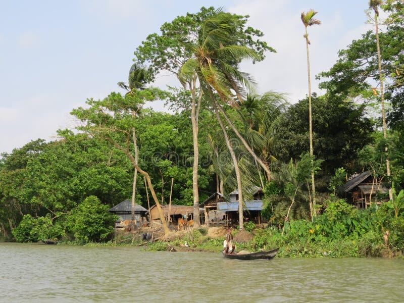 Alltagsleben in den Flüssen, Barishal, Bangladesch stockfoto