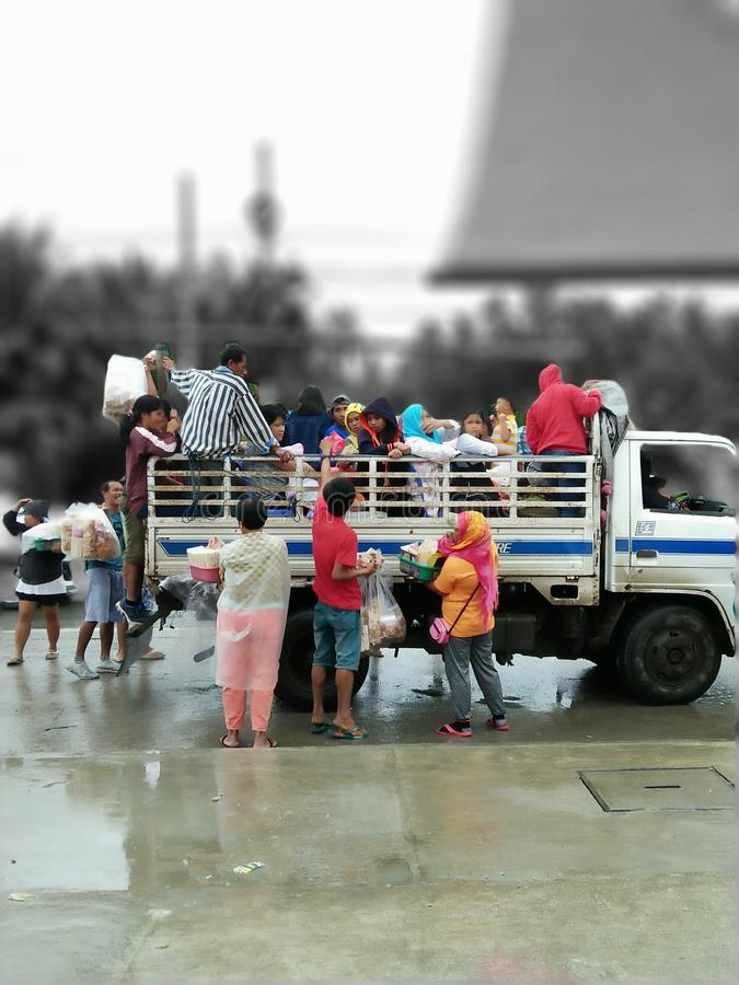 Alltagsleben in den Philippinen lizenzfreies stockbild