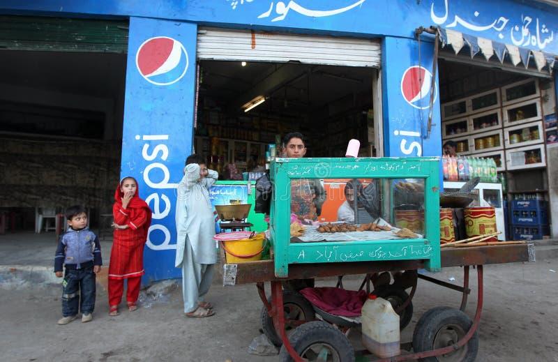 Alltagsleben im Fliegenklatsche-Tal, Pakistan lizenzfreies stockfoto