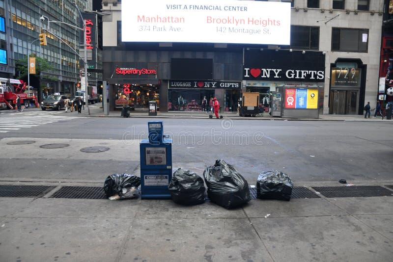 Alltagsleben in New York City stockfotos