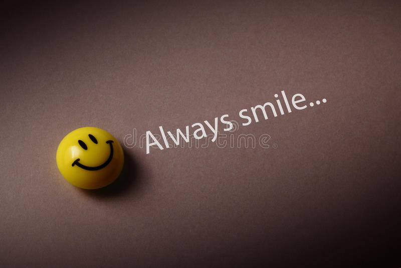 Alltid leende arkivbild
