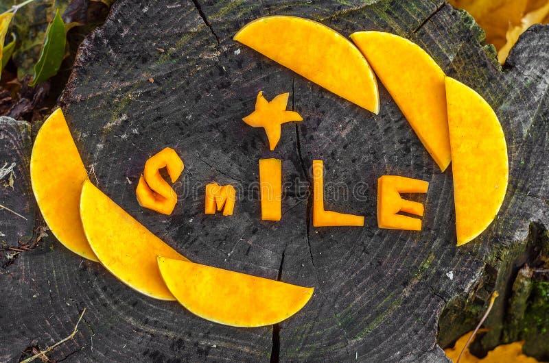 Alltid leendet och är positivt arkivbild
