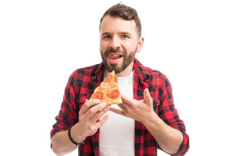 Alltid upplagt av pizza royaltyfria bilder